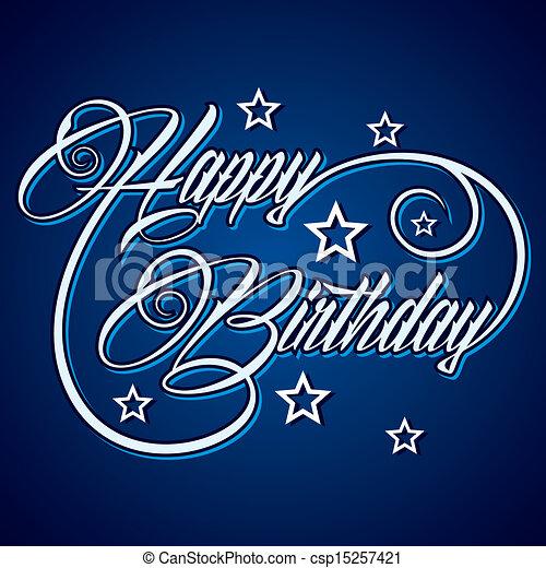 Creative Happy Birthday  - csp15257421