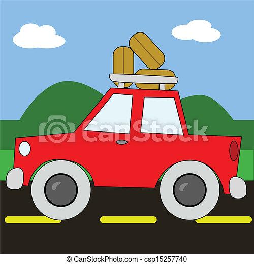 EPS Vector of Road trip 2 - Vector cartoon illustration of ...