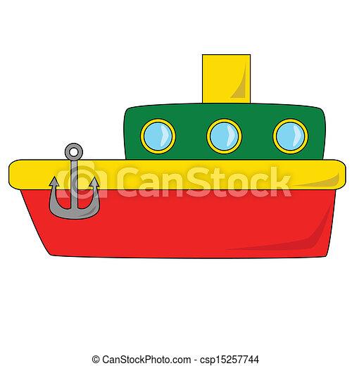 Vector - Cartoon Boat - stock illustration, royalty free illustrations ...