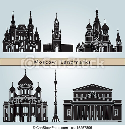 Moscow landmarks and monuments - csp15257806