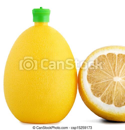 citric acid in bottle - csp15259173