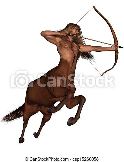 Sagittarius the archer - galloping - csp15260058