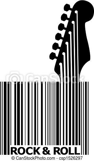 UPC bar code guitar - csp1526297