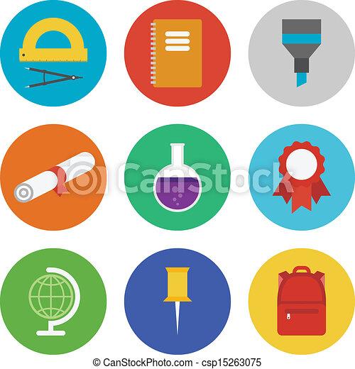 Education icons set - csp15263075