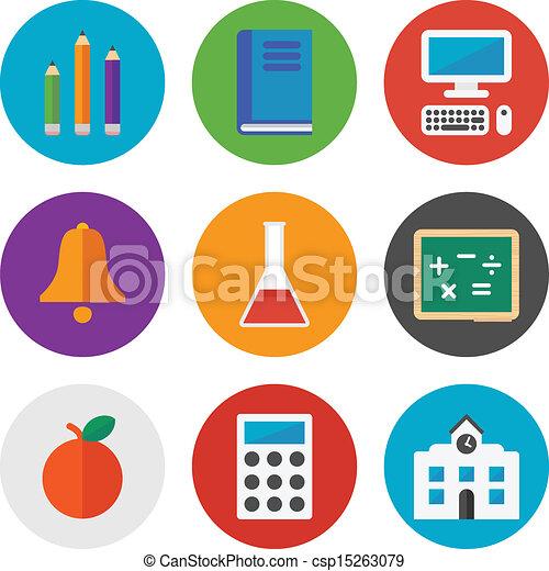 Education icons set - csp15263079