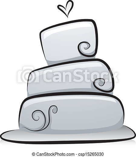 Vectors of Wedding Cake in Black and White - Illustration ...