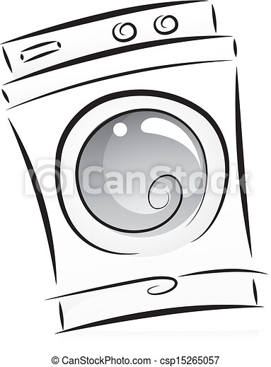 Vecteur clipart de machine noir blanc lavage - Logo lavage machine ...