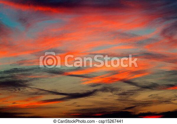 Sky background on sunrise. Nature composition. - csp15267441