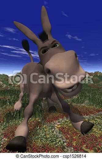 caricatura, burro - csp1526814