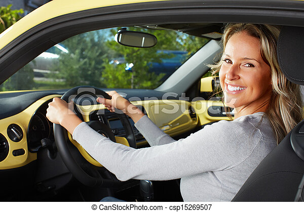 Woman car driver. - csp15269507