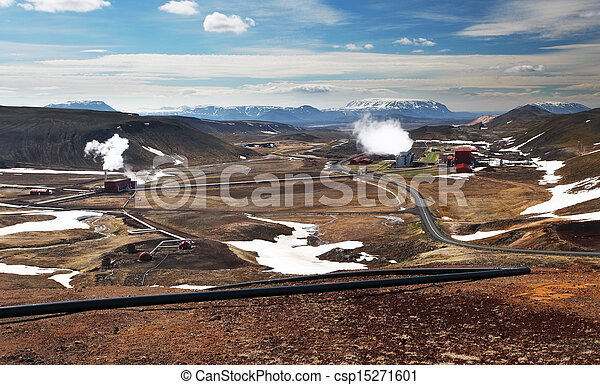 Geothermal power energy station - csp15271601