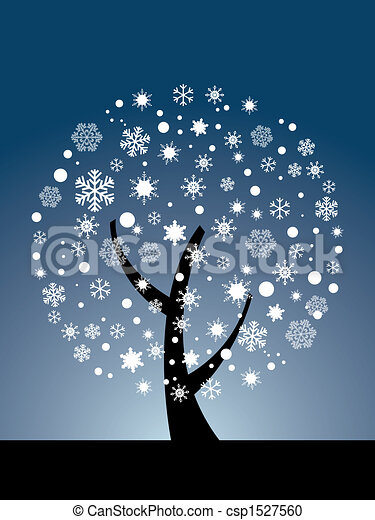 Vector snowflake tree - csp1527560