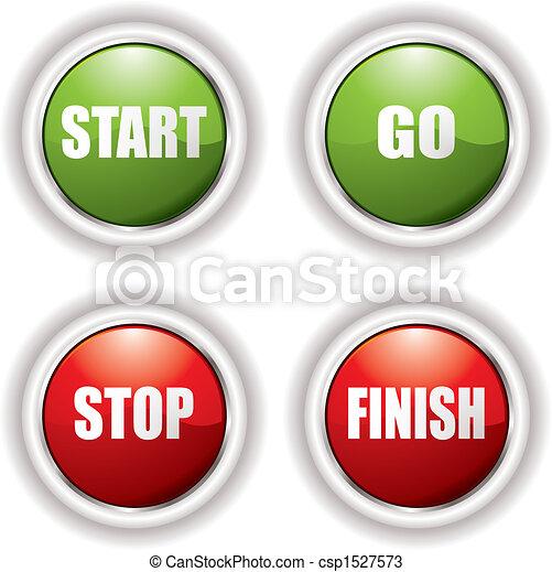 Start Stop Buttons - csp1527573