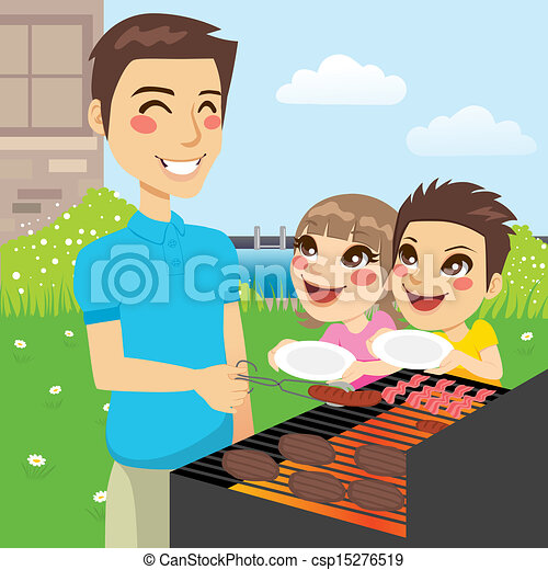 Family Barbecue Party - csp15276519