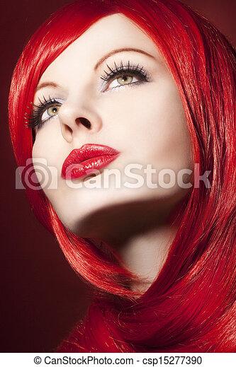 beautiful woman portrait - csp15277390