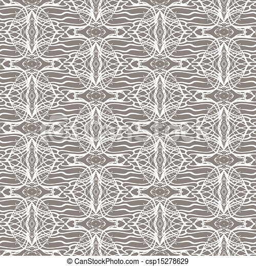 Lacing geometric ornament in art deco style - csp15278629