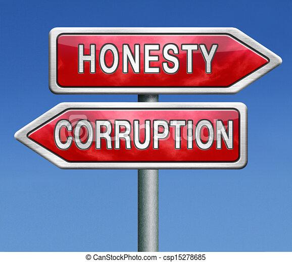 corrupt or honest - csp15278685