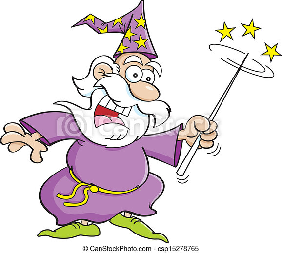 vecteur magicien dessin anim