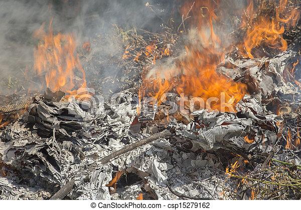 Burning Garbage Illegal Burning Garbage Dump