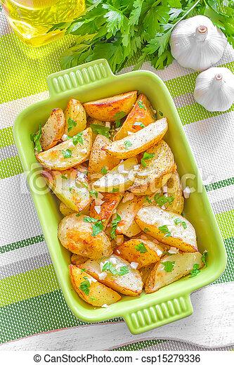 Baked potato - csp15279336