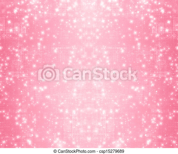 Pink abstract paper design in scrapbooking style for greeting card - csp15279689
