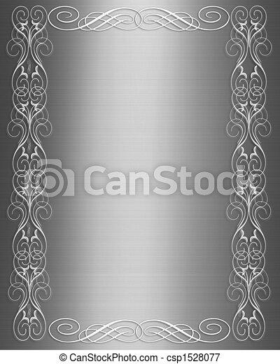 Formal invitation Silver Satin - csp1528077