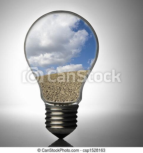 Clean energy, a light bul - csp1528163