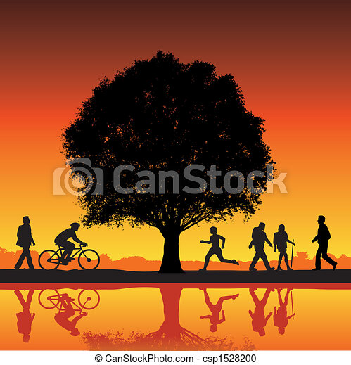 outdoor activity with tree - csp1528200
