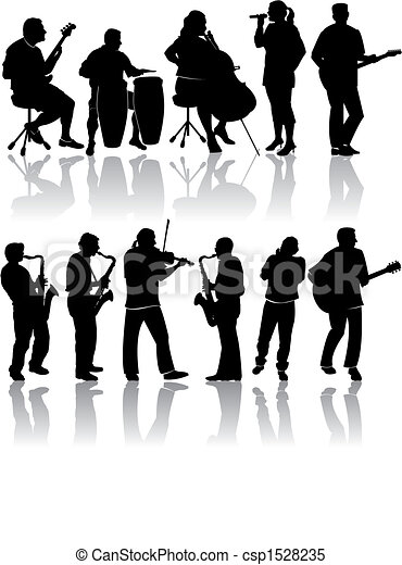 11 Musician Silhouettes - csp1528235