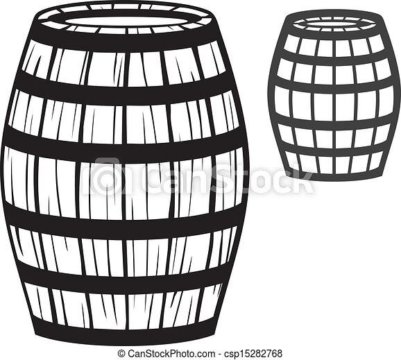 Vector - old barrel  wooden barrel  - stock illustration  royalty free    Whiskey Barrel Drawing