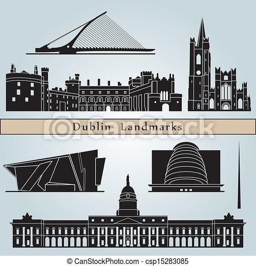 Dublin landmarks and monuments - csp15283085