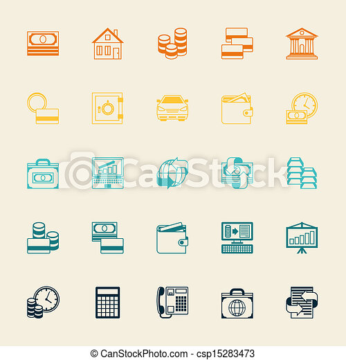 Set of business and banking icons. - csp15283473