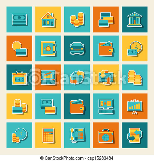 Set of business and banking icons. - csp15283484