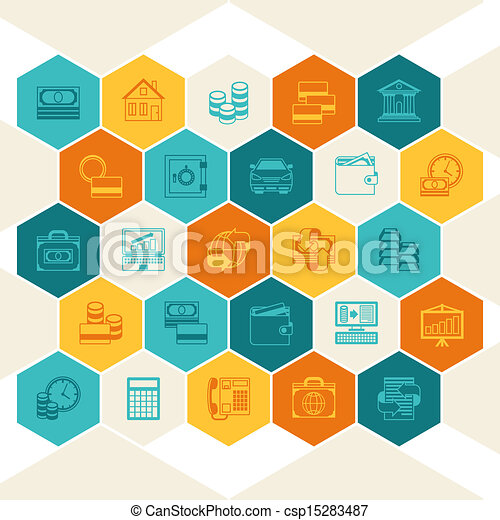 Conceptual banking and business background. - csp15283487