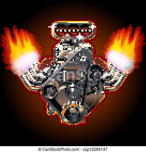 Eps Vector Of Vector Cartoon Turbo Engine Cartoon Turbo