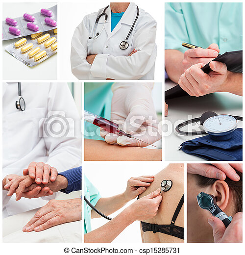 collage, medico - csp15285731