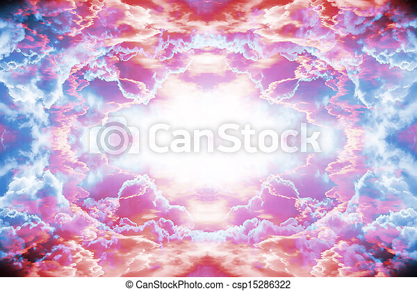 Purple and red fantasy background - csp15286322