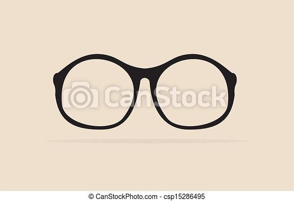 Old Glasses Drawing Vector Professor Glasses