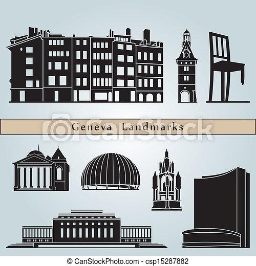 Geneva landmarks and monuments - csp15287882