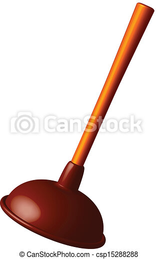 vector of toilet plunger against white background abstract vector art csp15288288 search. Black Bedroom Furniture Sets. Home Design Ideas