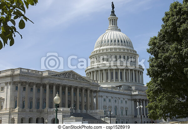 Capitol building and dome - csp1528919