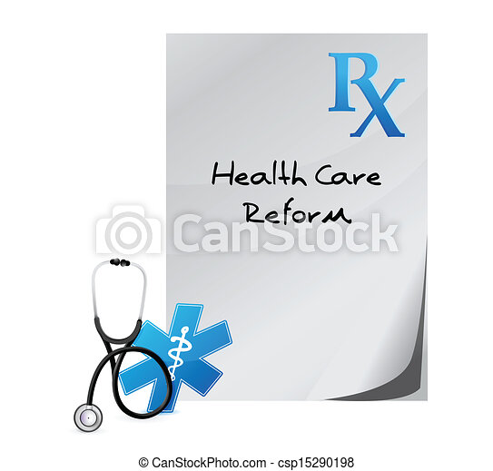 health care reform prescription concept - csp15290198