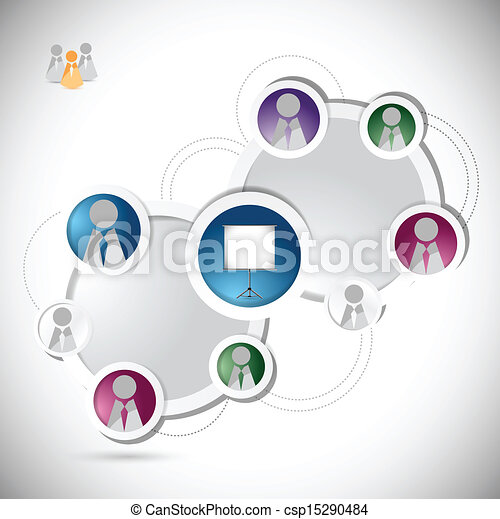 online training student network concept - csp15290484
