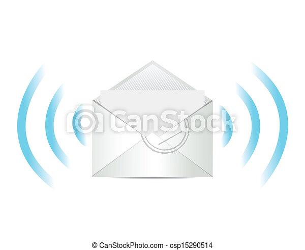 e, メール, コミュニケーション, イラスト, デザイン - csp1... e, メール,