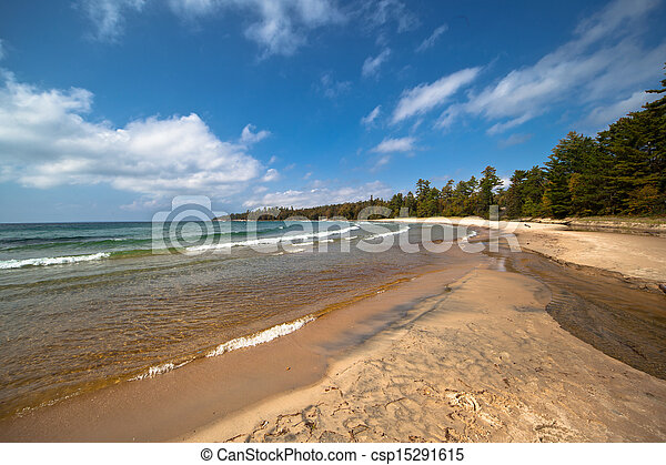 Lake Superior Sandy Beach - csp15291615