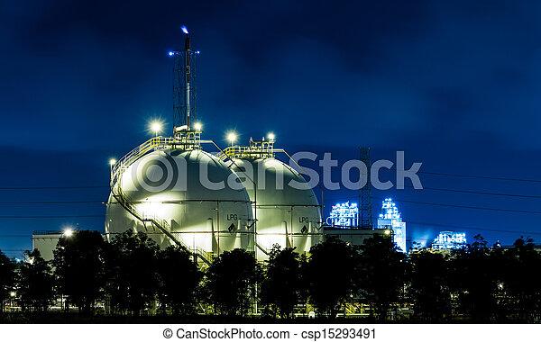 Industrial,  gás, armazenamento, esfera, tanques,  lpg - csp15293491