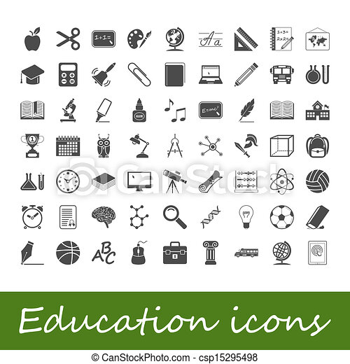 Education icons - csp15295498