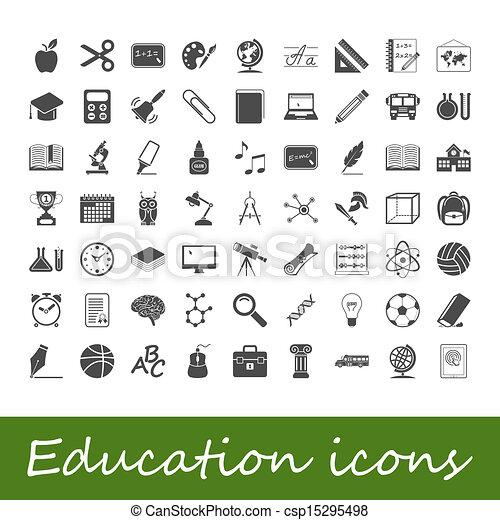 Education icons - csp15295498
