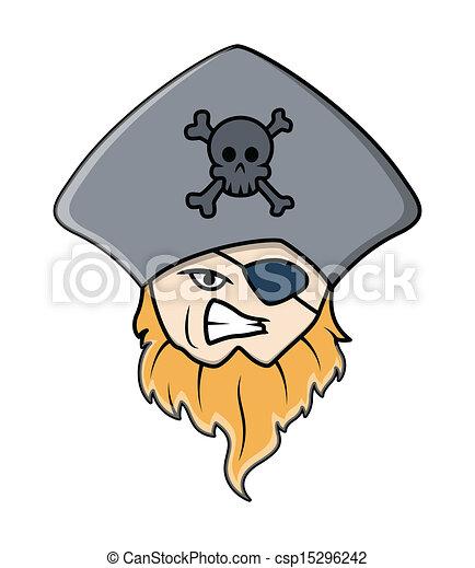 Vecteur EPS de pirate, capitaine, à, oeil, pièce - dessin ... - photo #45