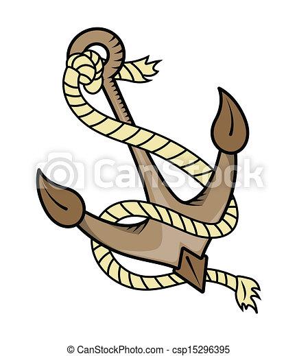 Vecteurs eps de corde bateau vecteur ancre dessin art de dessin csp15296395 - Ancre de bateau dessin ...